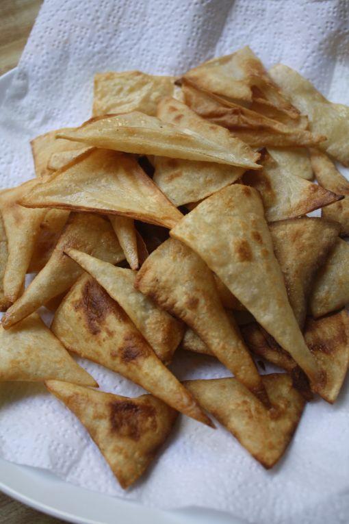 homemade fried tortilla chips