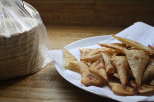 homemade corn tortilla chips