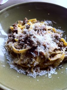 duck bolognese from cotogna