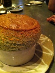 Rise No. 1 spinach souffle, dallas
