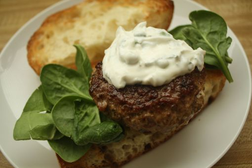griddled lamb burger