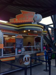 outta here cheesesteaks stall at&t ballpark