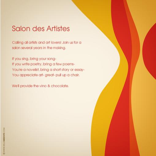 art salon online invitation