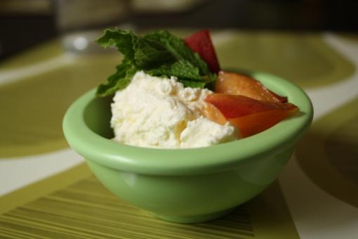 ricotta and peach recipe