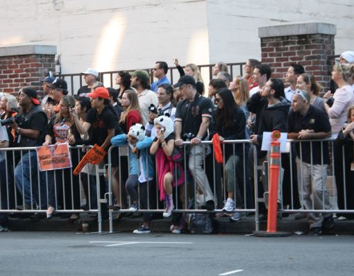 crowd waiting