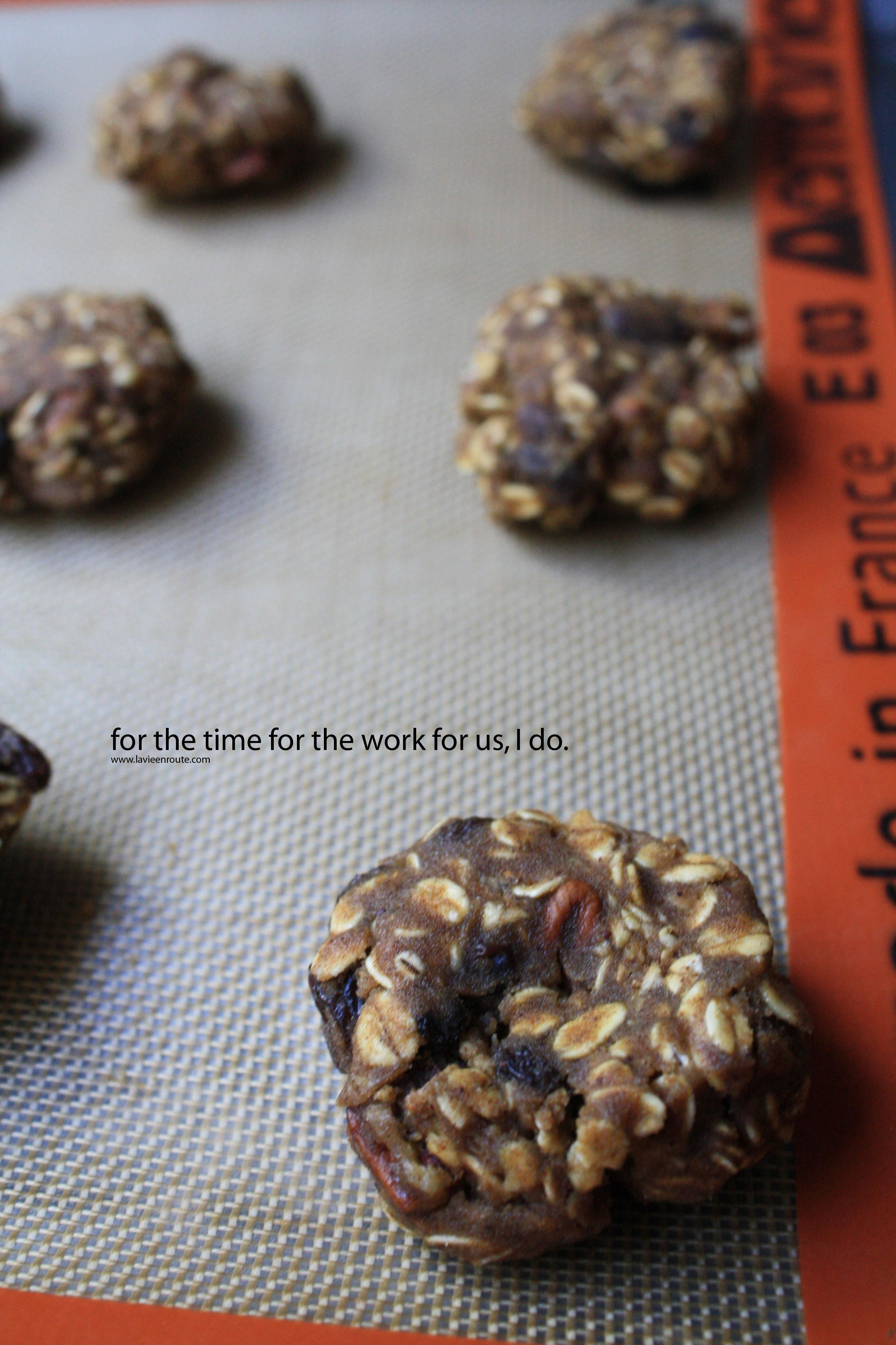 Spiced Oatmeal Pumpkin Pecan Cookies Food Photo Poetry