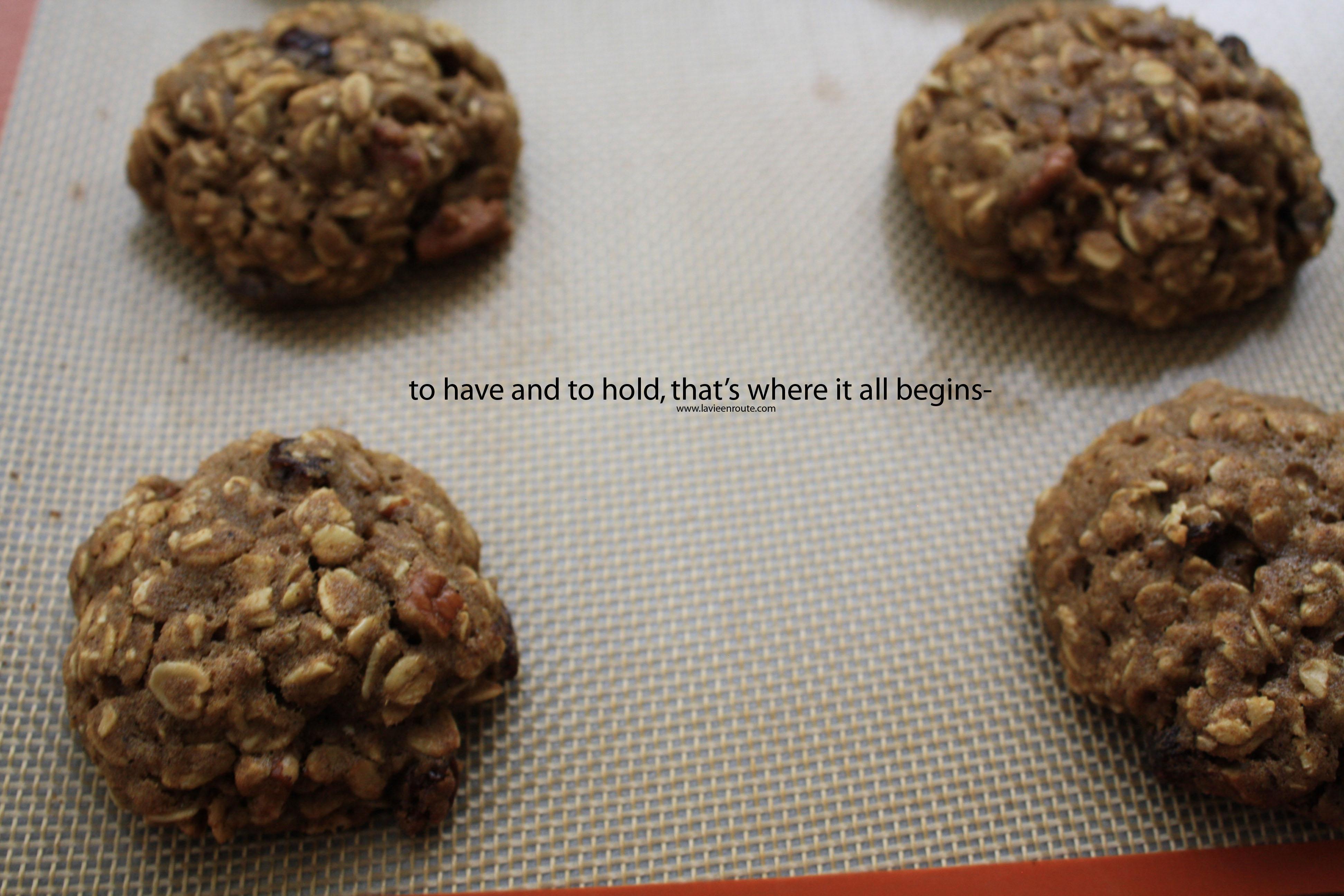 Food Poetry: Spiced Oatmeal Pumpkin Pecan Cookies   la vie ...