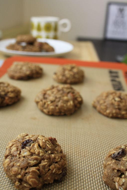 spiced whole grain oatmeal cookies
